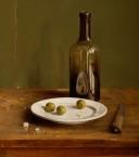 Bordje met olijven. afm. 40x45 cm