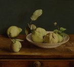 Quinces on a plate. size 45x50 cm