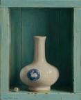 Chinese vase with rabbit. size 21x26 cm