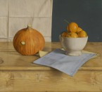 Orange Pumpkin, Bowl with mandarins. 45x50 cm